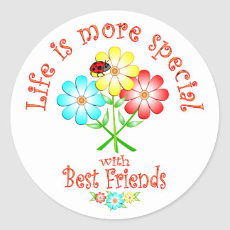 Best Friends are Special Round Sticker