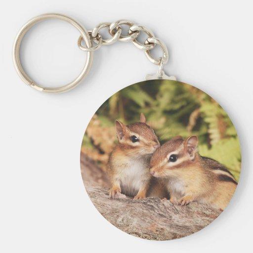 Best Friends Baby Chipmunks Keychains