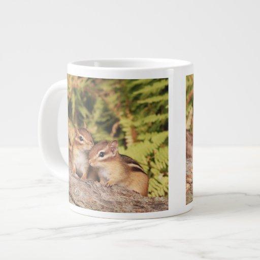 Best Friends Baby Chipmunks Jumbo Mugs
