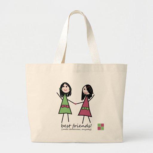 """""""Best Friends"""" Beach Tote Bags"""