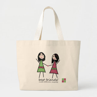 """Best Friends"" Beach Tote Jumbo Tote Bag"
