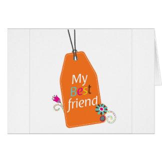 Best Friends BFF desgin Greeting Card
