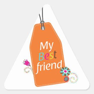 Best Friends BFF desgin Triangle Sticker