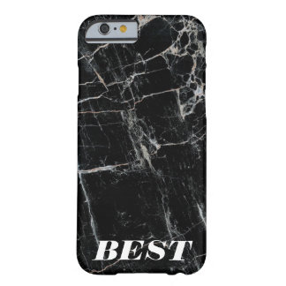 """BEST FRIENDS"" black marble modern cool minimal Barely There iPhone 6 Case"