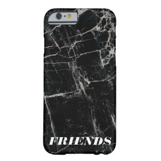 """""""BEST FRIENDS"""" black marble modern cool minimal Barely There iPhone 6 Case"""