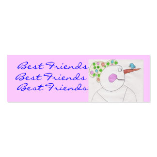 Best friends Bookmarks... Pack Of Skinny Business Cards
