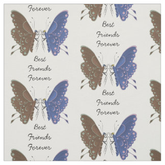 Best friends butterflies personalised fabric