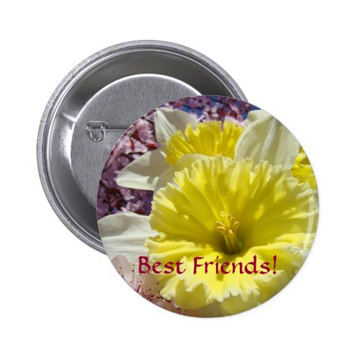 Best Friends! buttons Yellow Daffodil Flowers