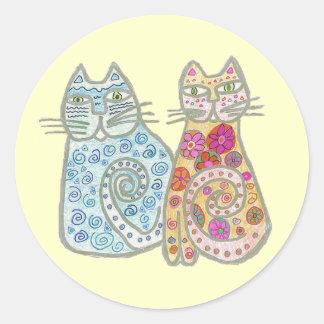 Best Friends Cat Design Stickers