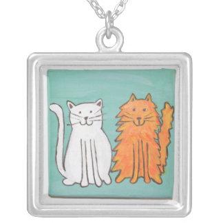 Best Friends Cats Art Necklace