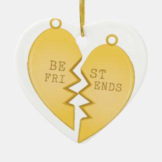 Best Friends Ceramic Heart Decoration