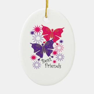 Best Friends Ceramic Ornament