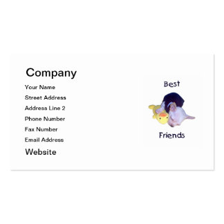 best friends (chihuahua) pack of standard business cards