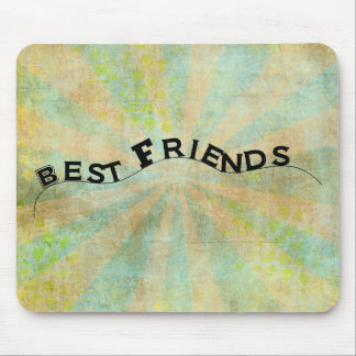 Best Friends Collage Style Sunburst Mouse Pads