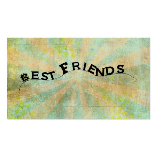 Best Friends Collage Style Sunburst Pack Of Standard Business Cards