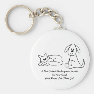 Best Friends Collection Secrets Basic Round Button Key Ring