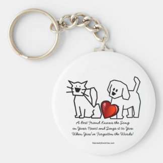 Best Friends Collection Song Basic Round Button Key Ring