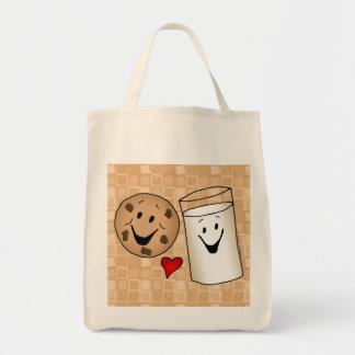 Best Friends, Cookies Love Milk Grocery Tote Tote Bags