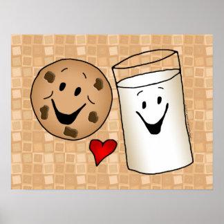 Best Friends, Cookies Love Milk Poster