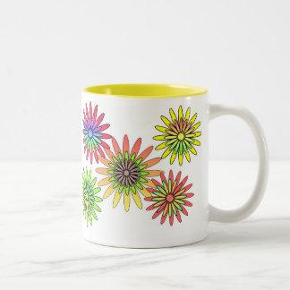 BEST FRIEND'S DAY JUNE 8 - RETRO FLOWERS COFFEE MUGS