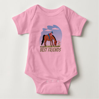 Best Friends Equestrian Infant Baby Bodysuit