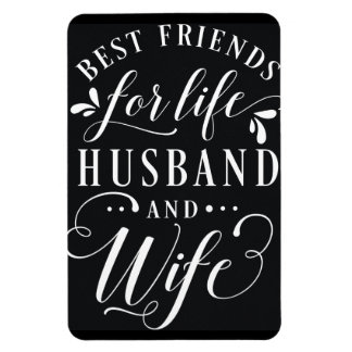 Best Friends for Life Husband and Wife Chalkboard Rectangular Photo Magnet