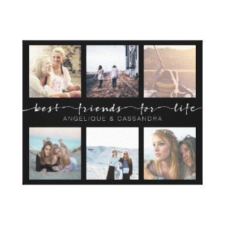 Best Friends for Life Instagram Photo Typography Canvas Print