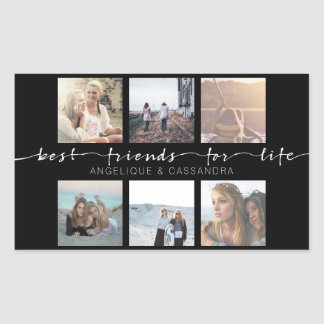 Best Friends for Life Instagram Photo Typography Rectangular Sticker