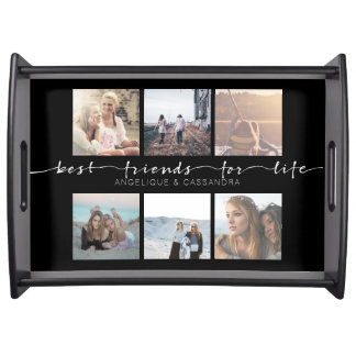 Best Friends for Life Instagram Photo Typography Serving Tray
