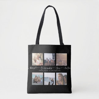 Best Friends for Life Instagram Photo Typography Tote Bag