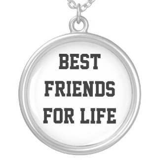 Best Friends For Life Round Pendant Necklace