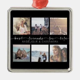 Best Friends for Life Typography Instagram Photo Metal Ornament