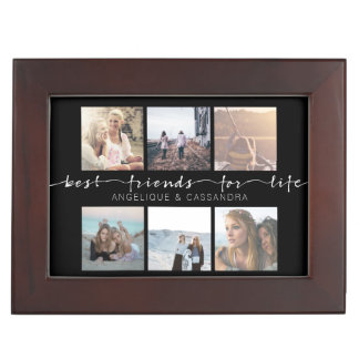 Best Friends for Life Typography Instagram Photos Keepsake Box