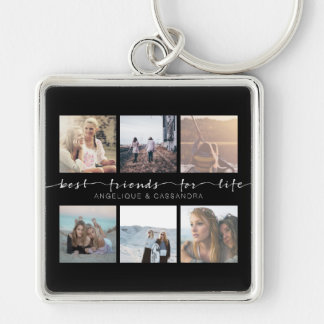 Best Friends for Life Typography Instagram Photos Key Ring