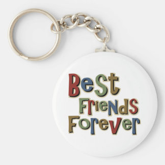 Best Friends Forerver Basic Round Button Key Ring