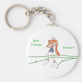"""Best Friends Forever 2.25"""" Button Keychain"""