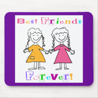 Best Friends Forever BFF Gifts Mousepad
