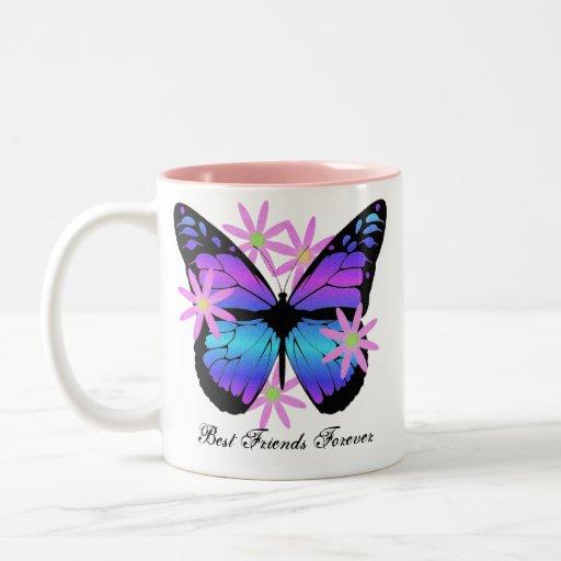 Best Friends Forever Butterfly Mug