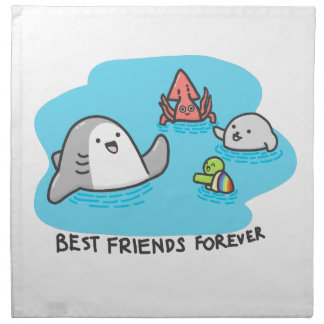 Best friends forever! napkin