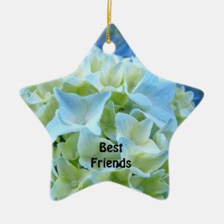 Best Friends Forever Ornament Blue Hydrangeas