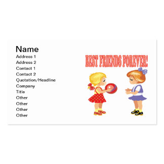 Best Friends Forever Pack Of Standard Business Cards