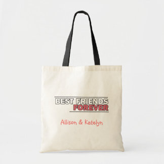 Best Friends Forever Personalized Quote Budget Tote Bag