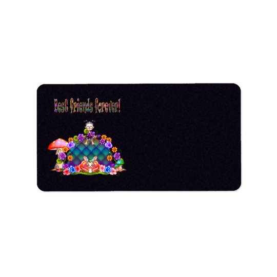 Best Friends Forever Pixel Art Address Label