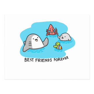 Best friends forever! postcard