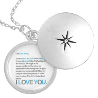 Best Friends forever Round Locket Necklace