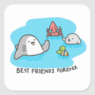 Best friends forever! square sticker