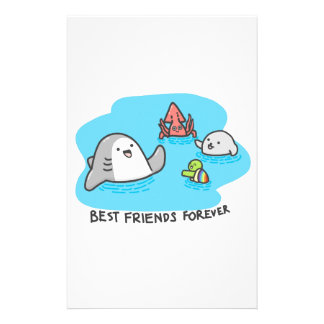 Best friends forever! stationery