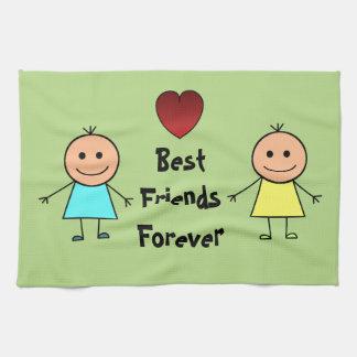 Best Friends Forever Tea Towel