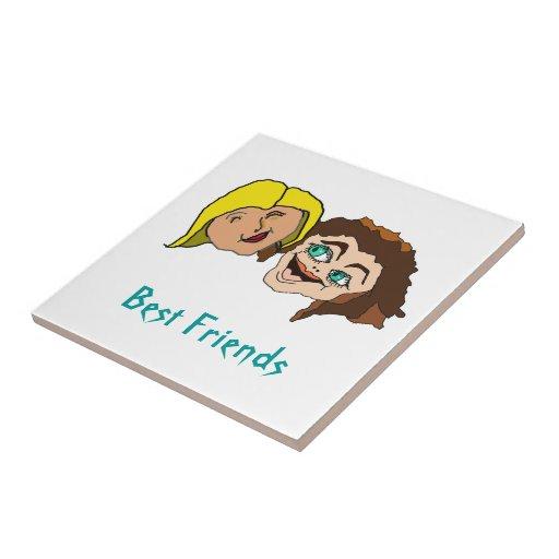 Best Friends - Girl Friends Ceramic Tiles