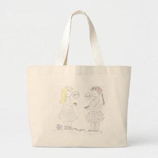 Best Friends Girls Tote Bags